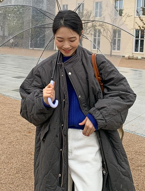 Marais quilted padded long coat
