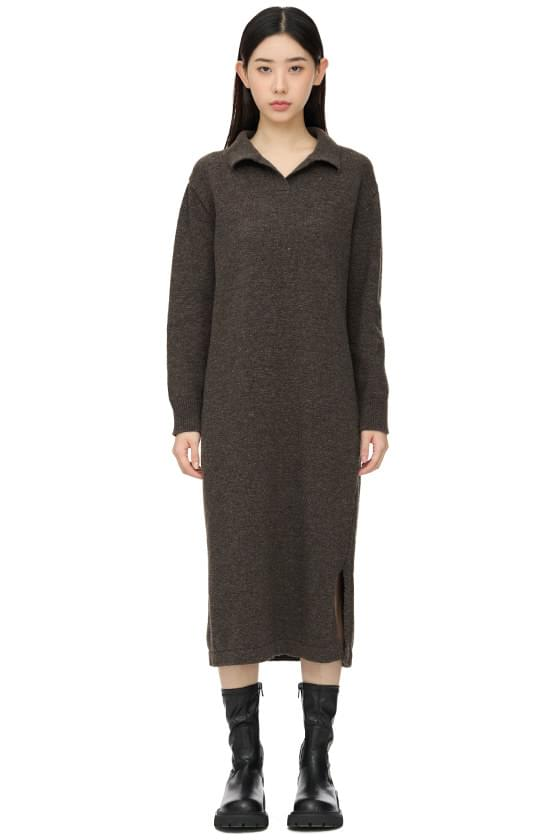 Jane Collar Knitwear Long Dress