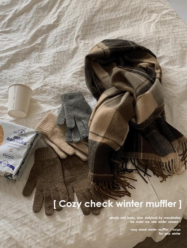 Cozy check winter muffler