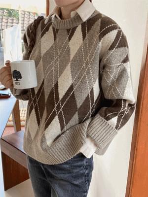 Mood Argyle Knitwear