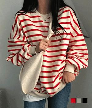 Striped balloon Fleece-lined Sweatshirt