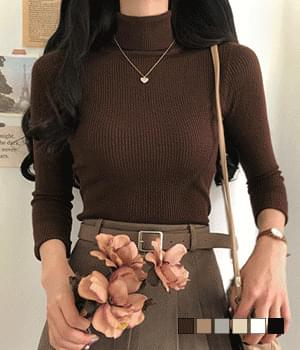 Handy Ribbed Turtleneck Knitwear