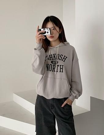 Langer*print hooded T-shirt