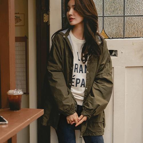 Melbourne overfit hooded Jacket