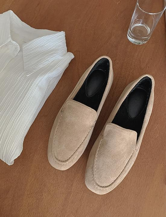 fur suede loafers