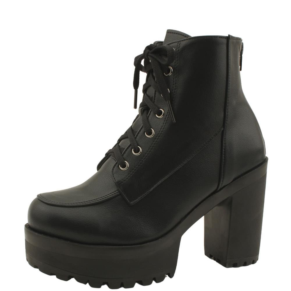 Walker High Heel Ankle Boots 10cm Basic Black