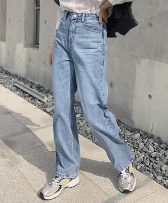Monbe wide denim pants