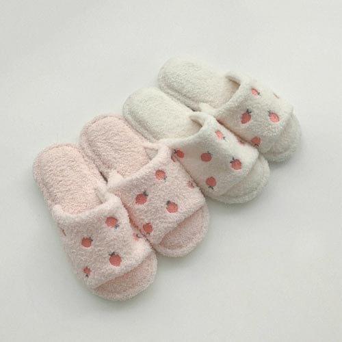 puffy peach slippers