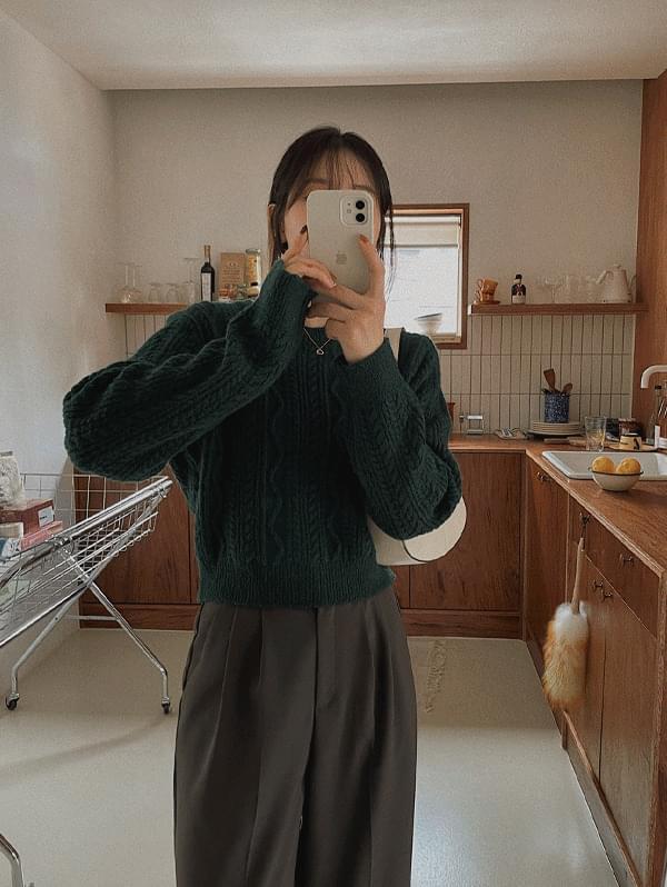Juri Twisted Crop Knitwear - 5color