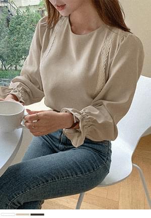 silver lace line blouse