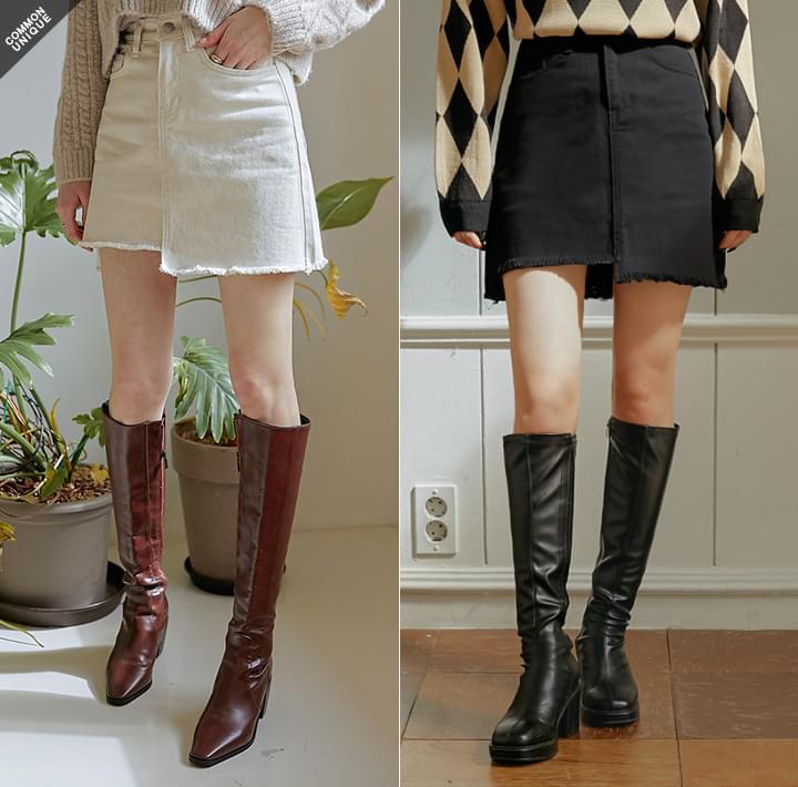 Asymmetrical Hem A-Line Skirt WITH CELEBRITY _ TZUYU (TWICE)