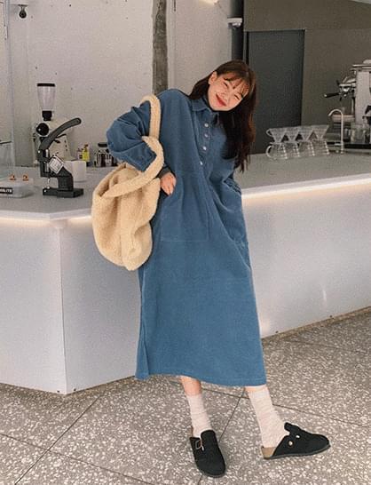 Judy corduroy long Dress