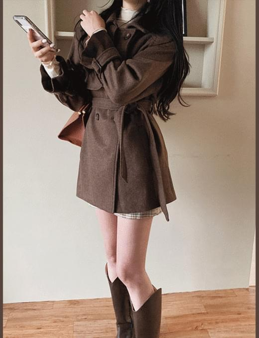 dole trench wool coat