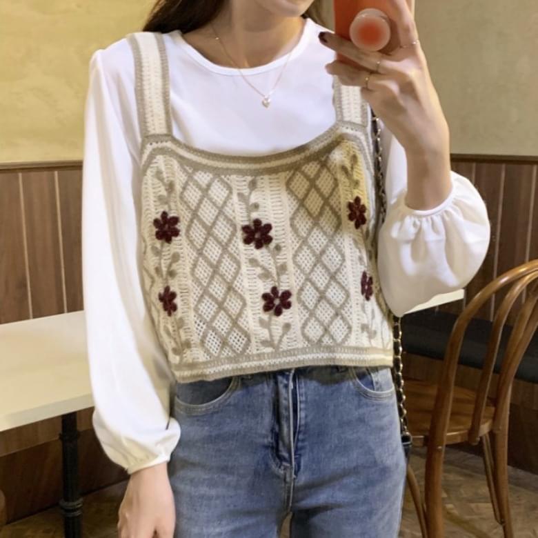 Neutro Flower Stem Knitting Vest