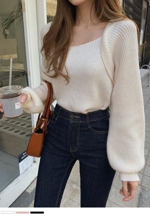 Basic It Point Bolero Knitwear