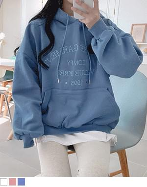 Synol lettering Woolen hoodie