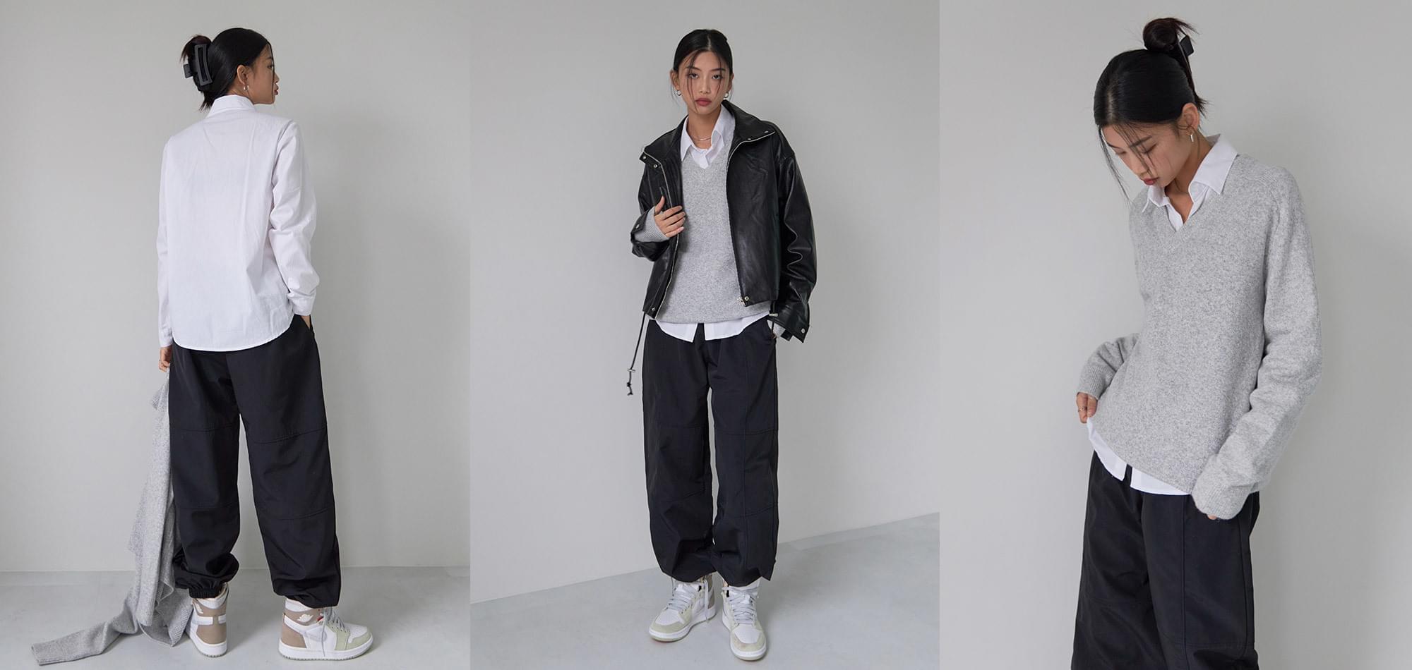 Damon leather Padded Jacket