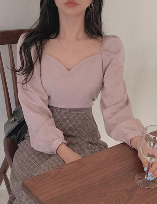 Rosy Heart Off blouse