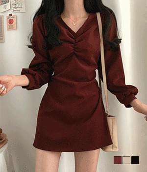 Jennifer Shirring mini Dress
