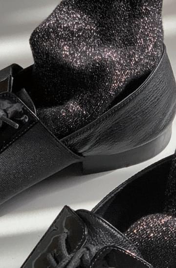 black glitter Socks