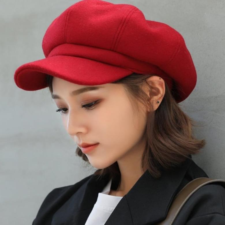 classic suede beret hat
