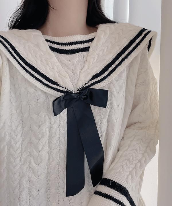 Hachi Big Sailor Knitwear 2color