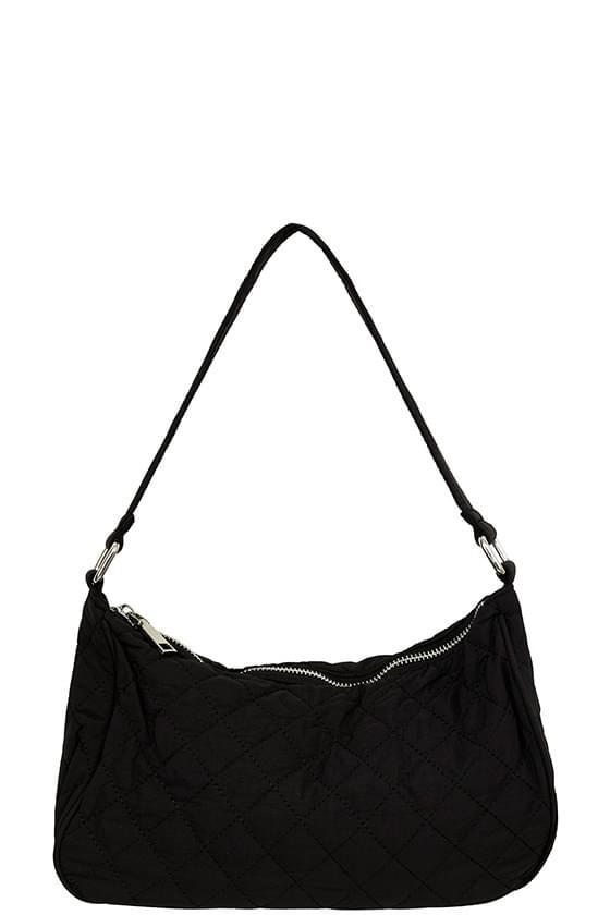 Luna quilted embossed shoulder bag
