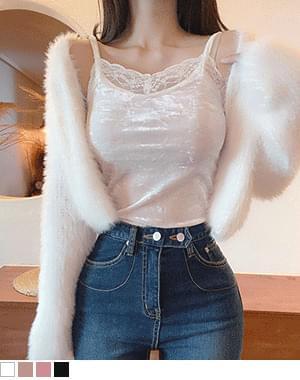 Munny Velvet Lace Sleeveless