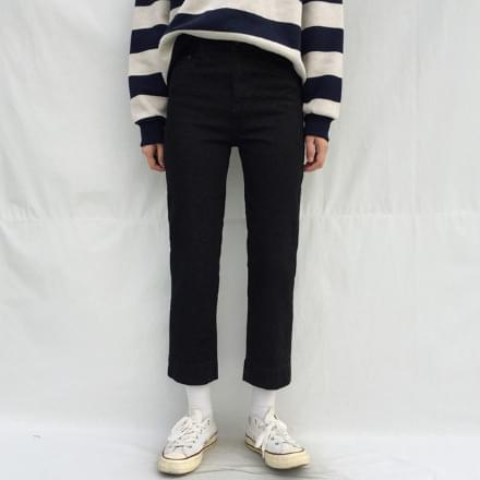 snap straight jeans