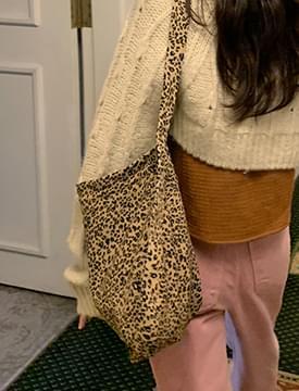 leopard strap hobo bag