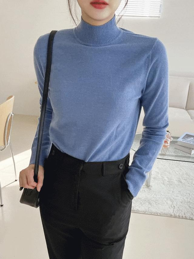 Sabren Cashmere Half Turtleneck Knitwear