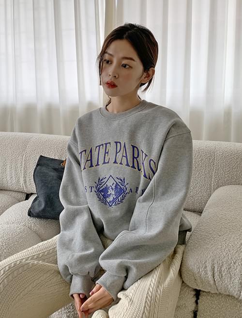 State Line Fleece-lined Boxy Sweatshirt