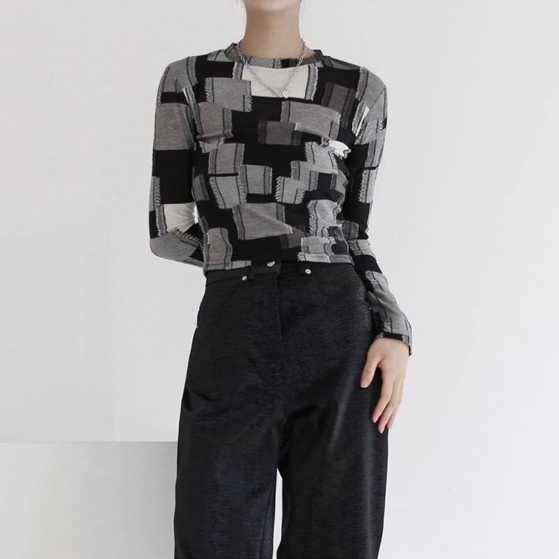 Hender patchwork cropped T-shirt