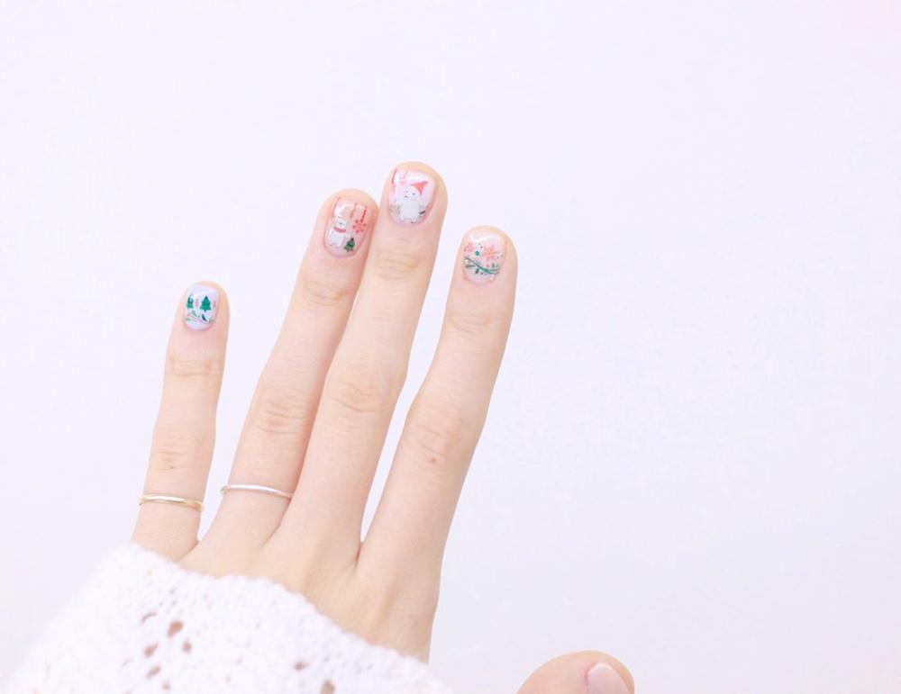 Holiday Animal Themed Nail Art Water Decal