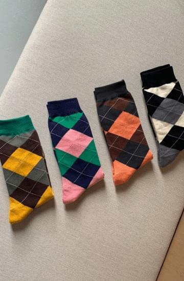 color matching argyle Socks