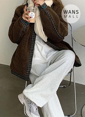 jp6554 Yomi collar point puffy jacket