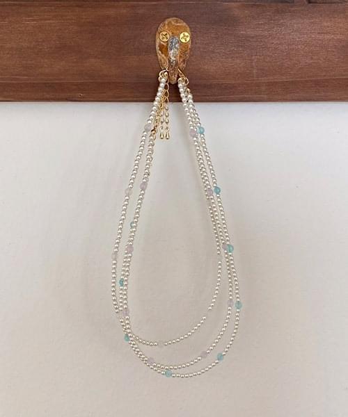 jade & pearl necklace