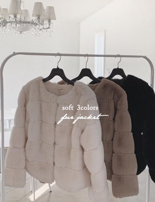 wave volume fur jacket
