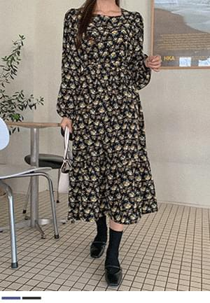 A bright smile flower long Dress