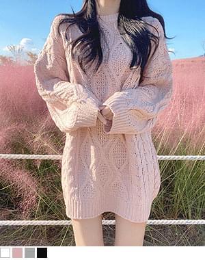 Window Twisted Knitwear Dress