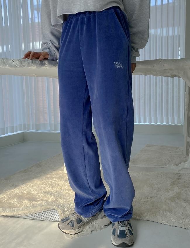 Velvet Blue Green Pants