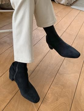 suede middle heel ankle boots