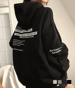 Authentic great backprinting Fleece-lined hooded Sweatshirt