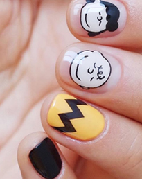 Line Themed Nail Art Water Decal