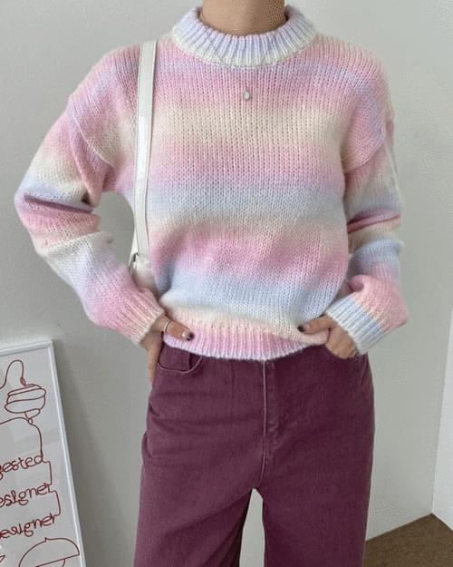 Bonbon Cotton Candy Round Knitwear