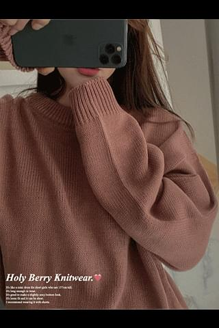 New 5% Holly Berry Loose-fit Knitwear