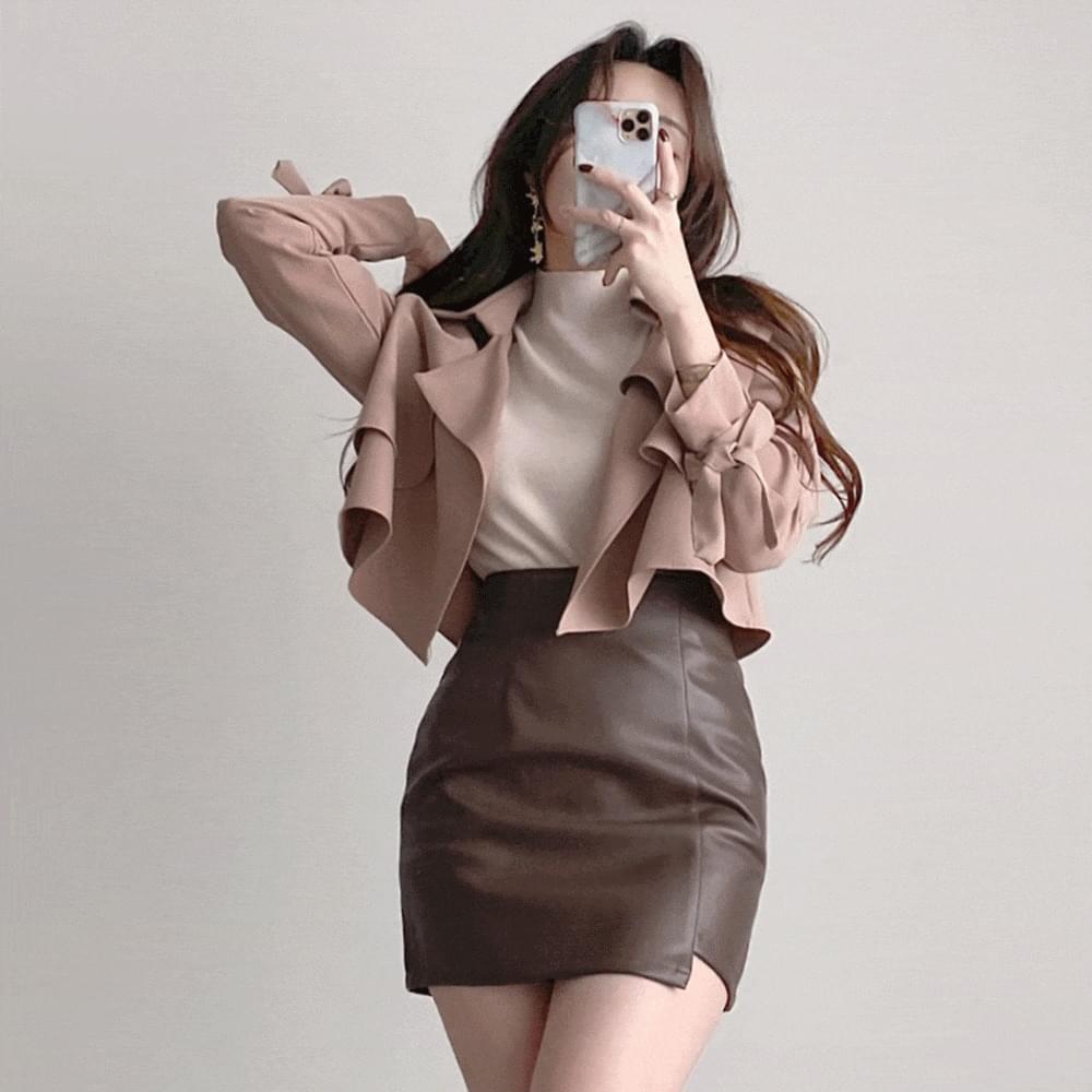 slender short trench jacket