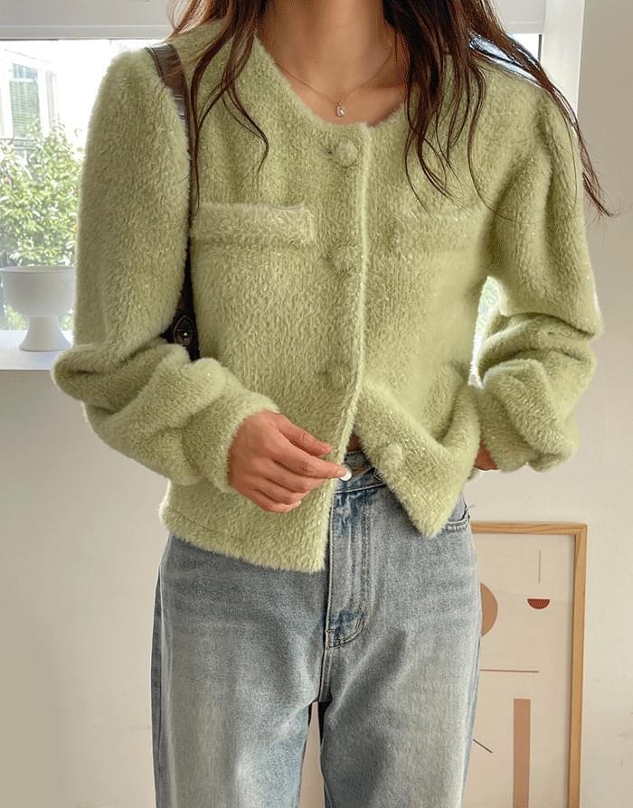 soft button puff jacket