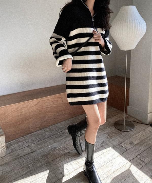 Loen Stripe Knitwear Dress