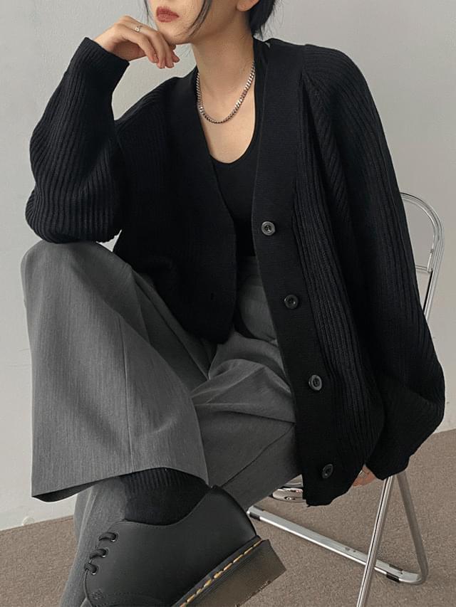 Aaron Daily V- V-Neck Knitwear Cardigan